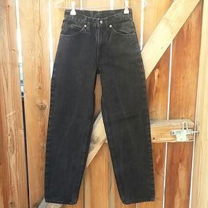 Vintage high rise black mom jeans
